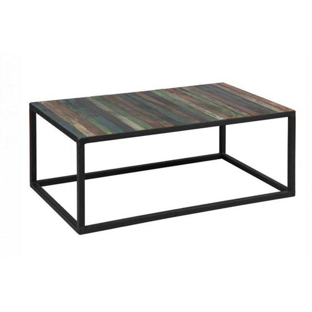 Inside 75 Table basse Recover en bois recyclés