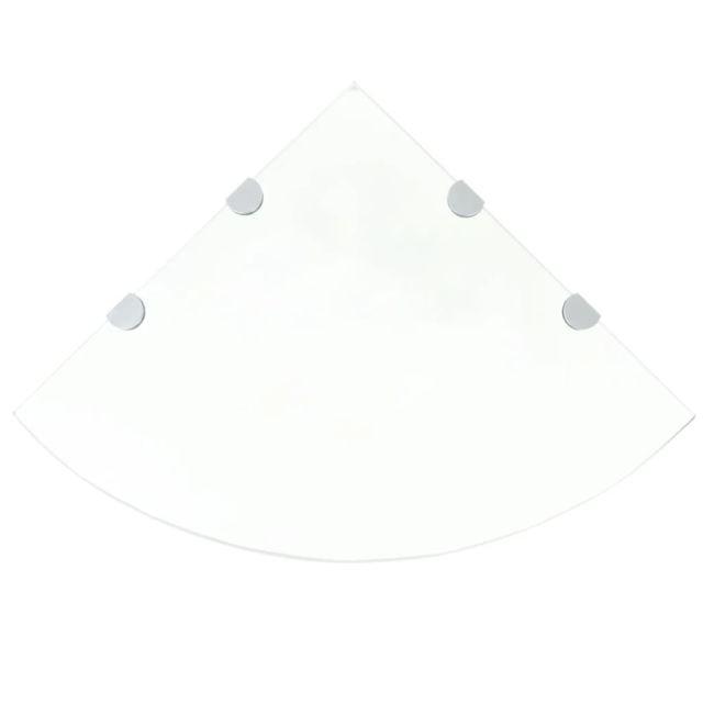 Uco Étagères d'angle 2 pcs et supports Verre Transparent 45x45 cm