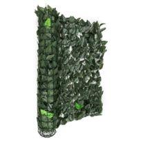 BLUMFELDT - Fency Dark Leaf Clôture pare-vue Paravent 300x150 cm -mélange vert foncé