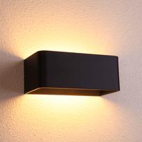 Kosilum - Applique murale tendance noire Led - Quadra 20 cm