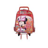 Minnie Et Ses Amies - Sac à roulettes Minnie Traveler rouge 40 Cm Haut De Gamme - Cartable