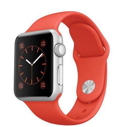 apple watch 38mm alu bracelet sport orange pas cher achat vente montre connect e. Black Bedroom Furniture Sets. Home Design Ideas