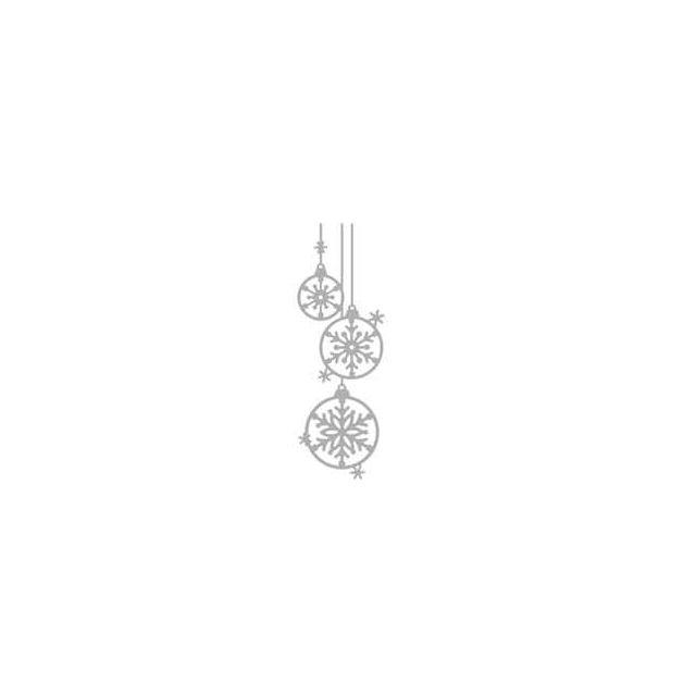 Rayher   Pochoir d'embossage Boules de Noel 4,1 x 12,1cm 1 pièce