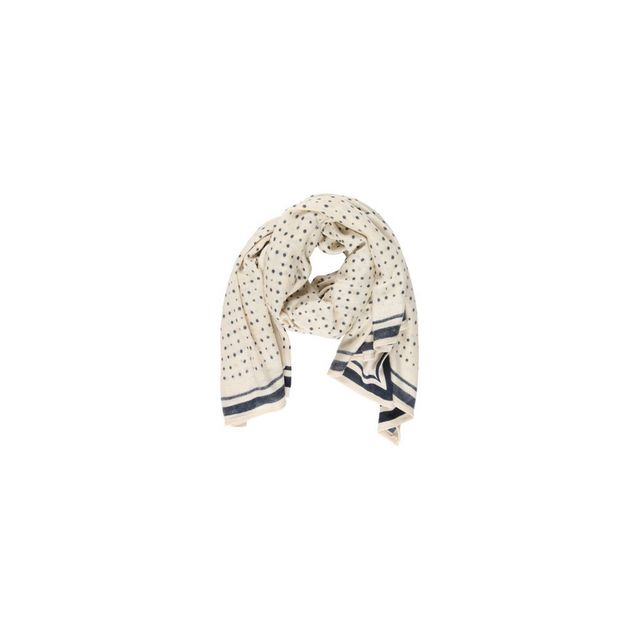 b1e2eadb32a2 Pieces - Grand Foulard Ecru et Marine Pcrubama 17067109 Whitecap Grey