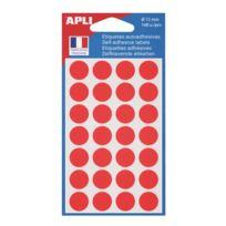 Agipa - Pastilles adhésives Ø 15 mm 11184 rouges - Pochette de 168