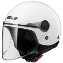 Ls2 - casque jet moto scooter Of575.10 Wuby Junior enfant blanc brillant