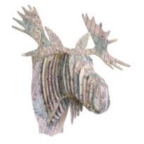 Cardboard Safari - Tête Élan en Carton Recyclé Londres - Taille M
