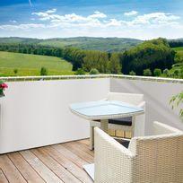 Windhager - Brise vue pour balcon en polyéthylène haute densité 85% occultant 5m x hauteur 0,9m Sylt - Blanc
