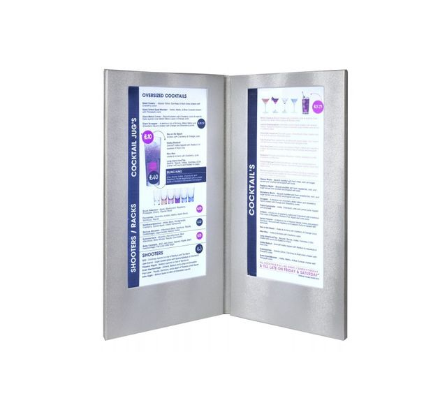 Securit Carte Menu Led Coloris argent 2 A45