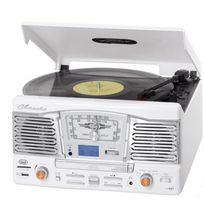 TREVI - TT 1065 Chaîne stéréo vintage haut-parleurs CD USB SD -blanche