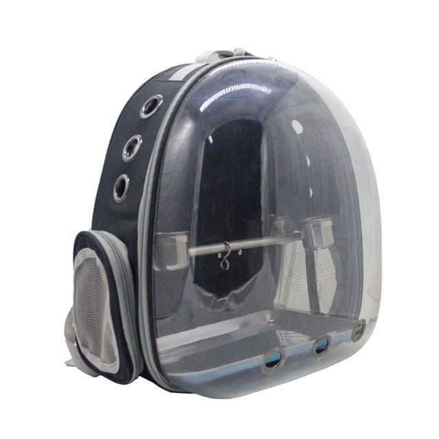 Cage de perroquet de voyage avec support de gobelet 8 couleurs noir