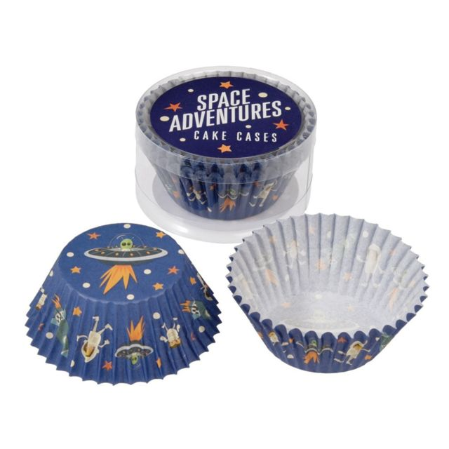 Dotcomgiftshop Set de 50 Moules à Cupcakes Space Adventures