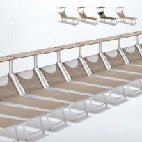 Beach And Garden Design - Bain de soleil transats piscine aluminiu