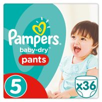 PAMPERS - Baby-Dry Pants - Taille 5 Junior, 12-18kg - 36 couches