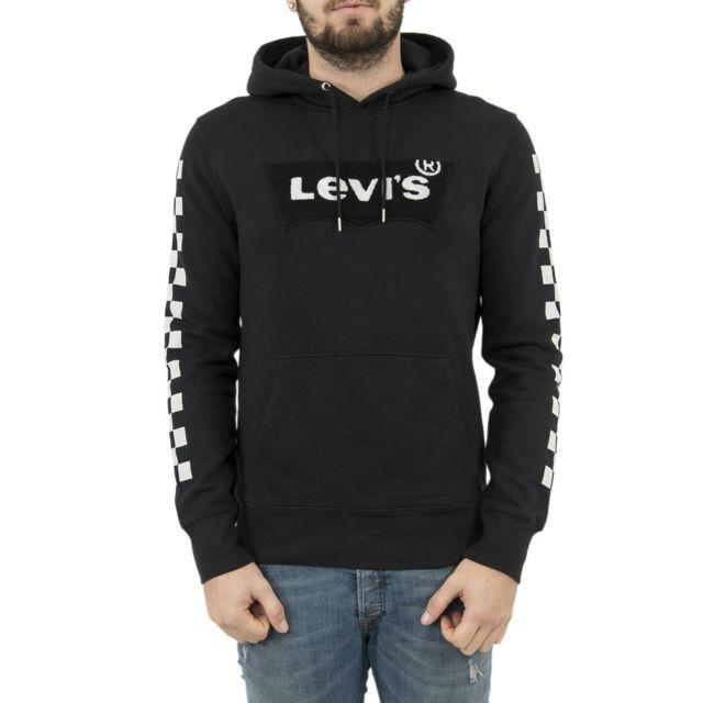 Levi s - Sweat levis 19491 graphic sport logo hoodies noir - pas ... b6764af7505e