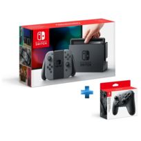 NINTENDO - Console Switch avec une paire de Joy-Con Gris + Manette Switch Pro