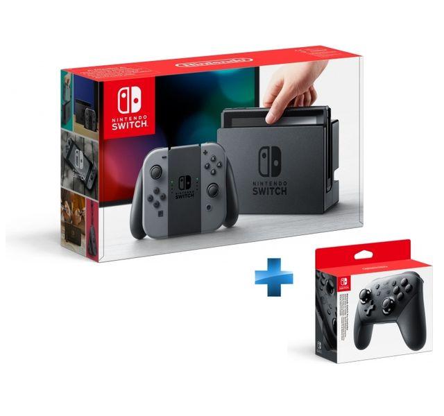 NINTENDO - Console Switch avec une paire de Joy-Con Gris + Manette Switch Pro