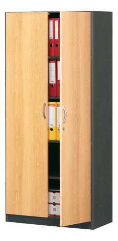 Simmob Burocean Jeu 2 portes hautes H 180 cm décor hêtre pour rayonnage