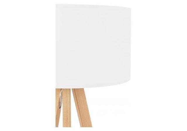 Declikdeco - Lampe Scandinave Abat-Jour Blanc Tornby 36cm x 64cm x 36cm