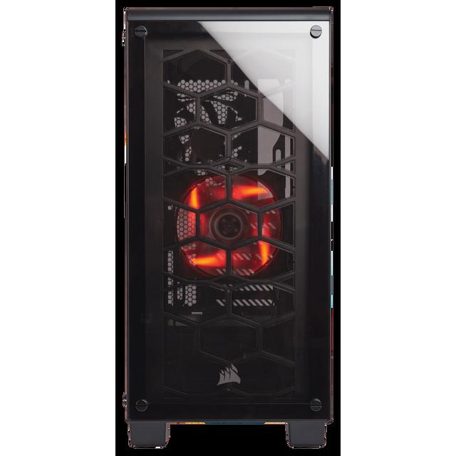 CORSAIR Boitier PC Crystal 460X Courbes épurées et conception pensée pour durer: le Crystal 460X est équipé de deux panneaux sublimes en verre trempé et de la technologie de refroidissement DirectAirfl