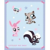 Littlest Petshop - Plaid - Bout de lit Littlest Pet Shop