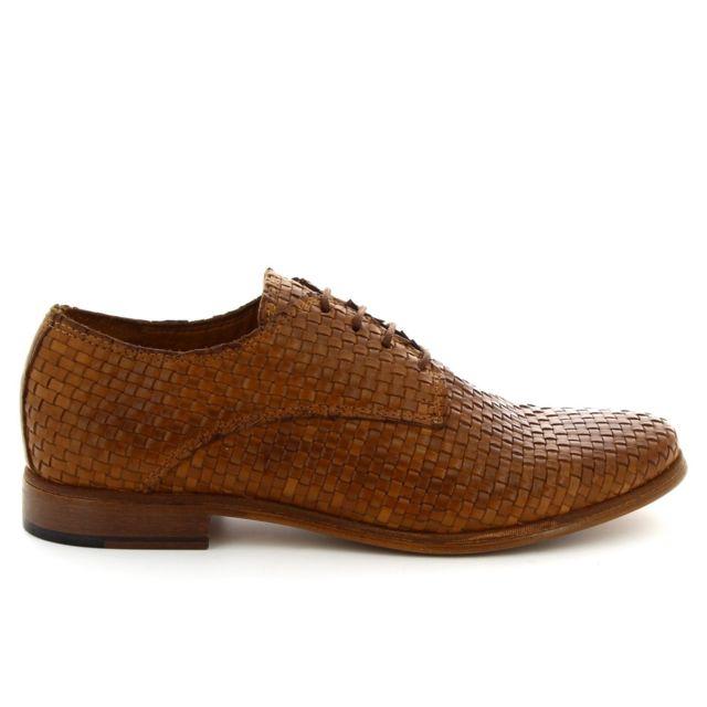 Leonardo Shoes Femme 55118866BROWN Marron Cuir Chaussures À Lacets