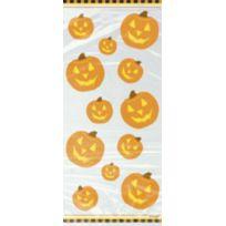 Sans - 20 sachets cellophane citrouille Halloween - taille - Taille Unique - 205344