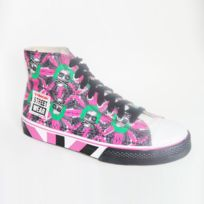 Vision Streetwear - Shoes Vintage Vision Street Wear Psycho Pink Black Green Toi