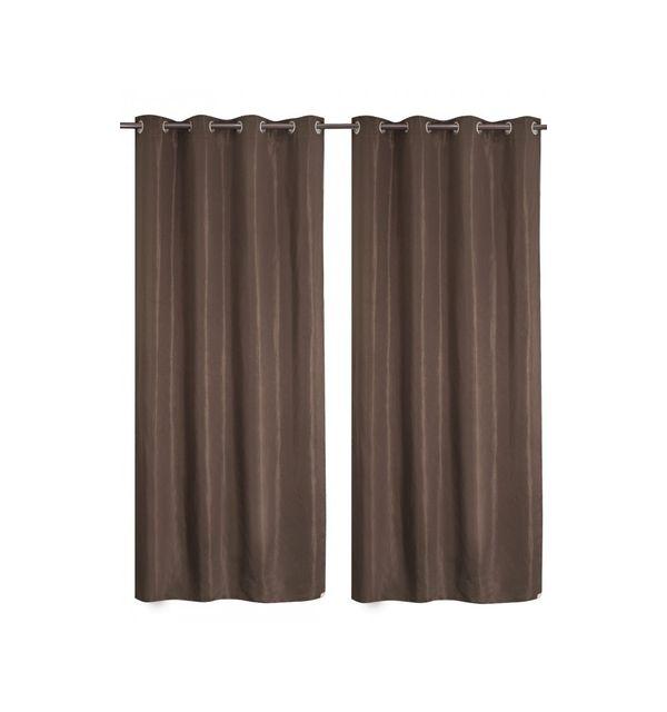 homemaison paire de rideaux tamisants faux uni pas cher achat vente rideaux rueducommerce. Black Bedroom Furniture Sets. Home Design Ideas