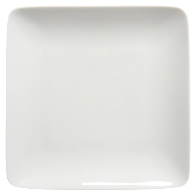 guy degrenne les 6 assiettes plates carr es 24 x 24 cm modulo blanc porcelaine blanche par. Black Bedroom Furniture Sets. Home Design Ideas