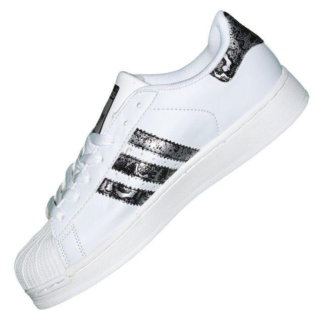 Adidas originals - Baskets - Superstar Foundation J Graffiti - Blanc Argent