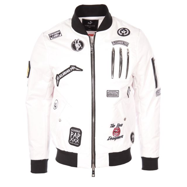 best quality limited guantity good quality The New Designers - homme - Bomber Cooper Blanc - pas cher ...