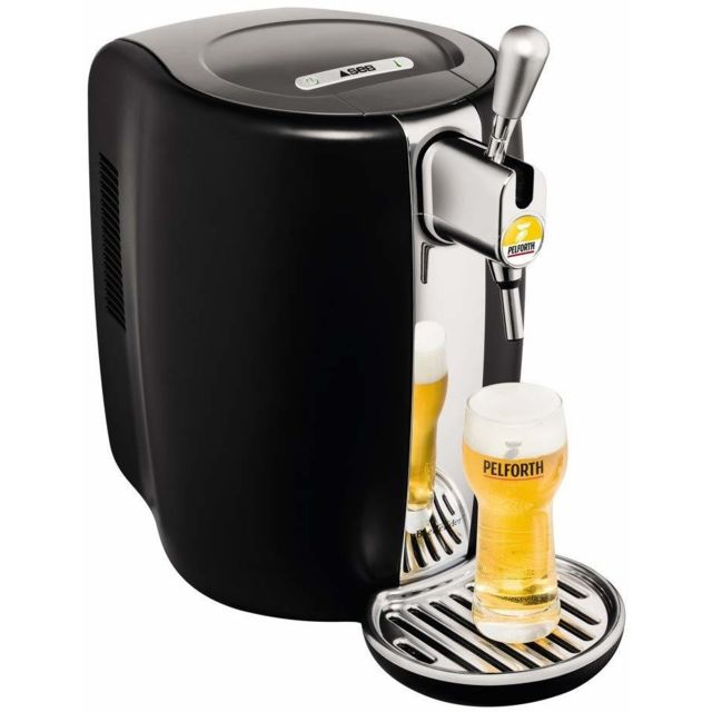 Seb Machine distributeur de bière tireuse de 5L 70W gris noir