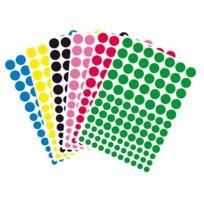 Majuscule - gommette adhesive ronde mj - blister de 636