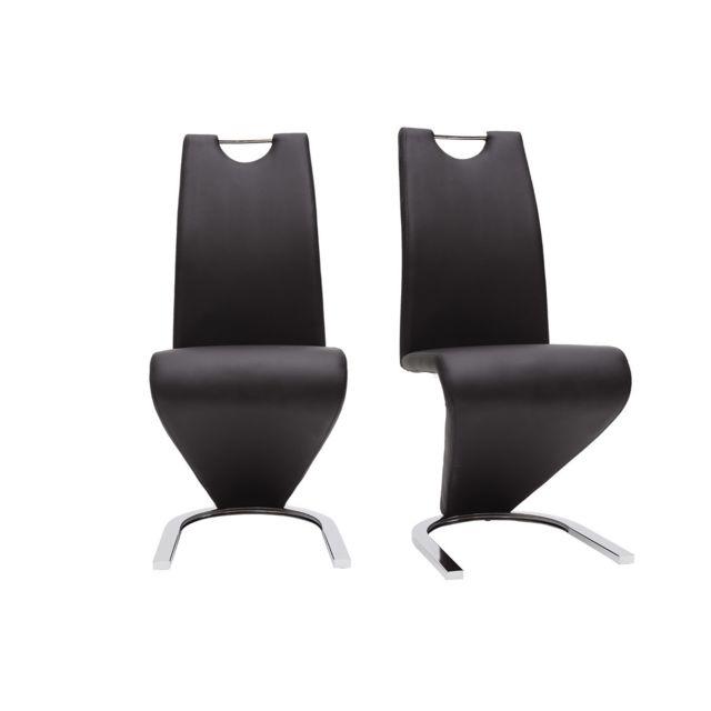 Chaises design noir lot de 2, Angy