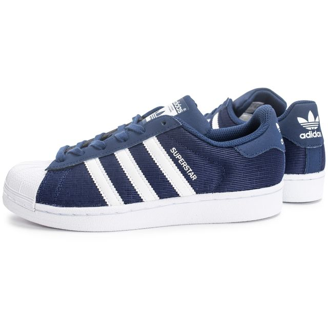 adidas superstar blanche et bleu marine