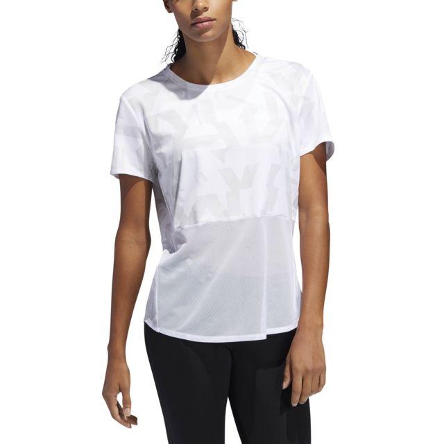 Adidas T shirt femme Own the Run Speed Splits pas cher