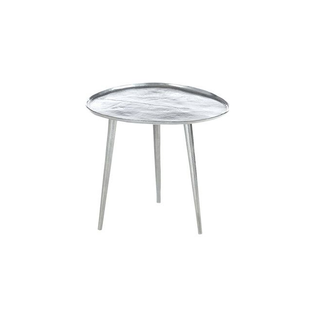 Table gigogne 45x48x42cm en métal argent