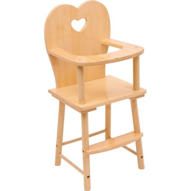 Small Foot Company Chaise haute pour poupée, nature