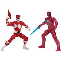 POWER RANGERS - Pack de 2 figurines de légende 12 cm - Ranger Rouge