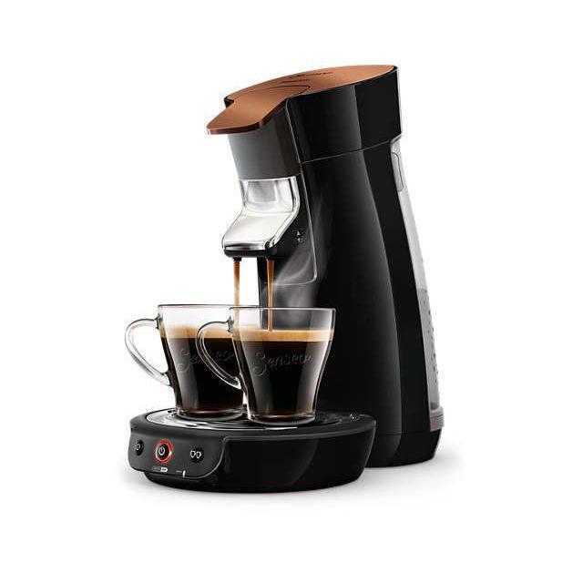 PHILIPS Machine à café Senseo Viva Café - HD7836/91 - Cuivre noir