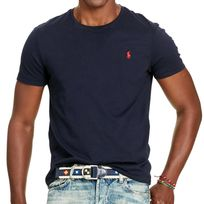 Polo Ralph Lauren - Ralph Lauren - T-shirt Manches Courtes - Homme - Cotton Jersey C Neck Tee - Navy
