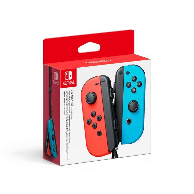 NINTENDO - Paire de manettes Joy-Con gauche bleue néon & droite rouge néon
