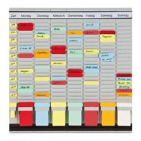Franken - Tableau planning à fiches en T - 7 modules - 473 x 490 mm