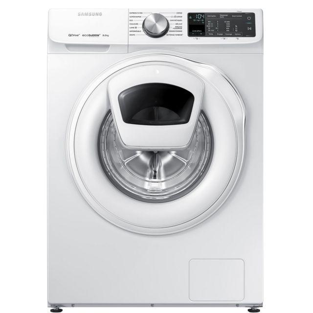 Samsung lave-linge frontal 60cm 8kg 1400t a+++ blanc - ww80m645oqm