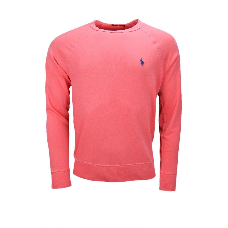 dda5cca9985c6 RALPH LAUREN- Sweat en coton éponge rouge pour homme
