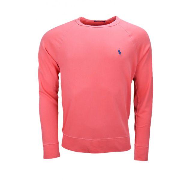 Ralph Lauren - Sweat en coton éponge rouge pour homme - pas cher Achat    Vente Sweat homme - RueDuCommerce 6e0327a7190