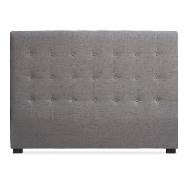 menzzo t te de lit luxor 160cm tissu taupe pas cher achat vente t tes de lit rueducommerce. Black Bedroom Furniture Sets. Home Design Ideas