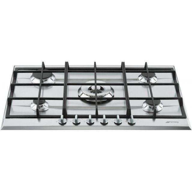 smeg p272xgh table de cuisson au gaz 70 cm inox inox achat plaque de cuisson gaz. Black Bedroom Furniture Sets. Home Design Ideas