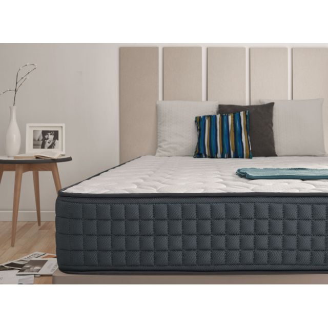 NATURALEX Matelas VISCO GRAPHENE 160x200 cm antistress en mousse VISCO GRAPHENE® aux particules de graphène antistatique et anti t